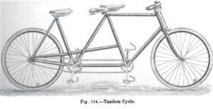 Skizze eines Tandems (1904)