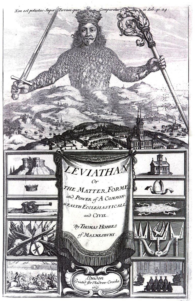 Titelblatt von Hobbes' Leviathan.