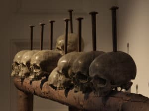 A so-called skull beam is an example of deterrence theory in practice.