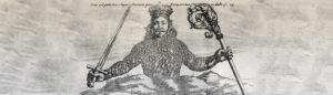 """Ausschnitte aus Titelblatt von Thomas Hobbes """"Der Leviathan"""""""
