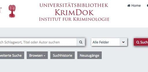Tipp: Literaturrecherche via KrimDok