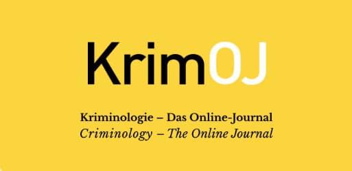 KrimOJ – erste Ausgabe des Open Access Kriminologie-Jornals erschienen