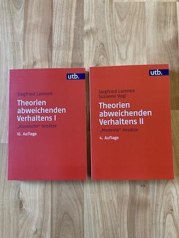 Theorien abweichenden Verhaltens Band I und II von Siegfried Lamnek und Susanne Vogl